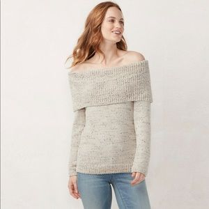 LC Lauren Conrad Off-The-Shoulder Sweater NWT